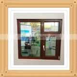 pvc window with roller shutter/upvc window with interior blind/vinyl window