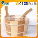 Factory sale cheap price pine & red cedar material dry steam sauna accessories wooden sauna barrel
