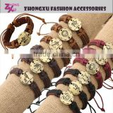 custom new popular zodiac symbol leather bracelet