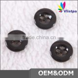 New design round clear 4 hole custom made plastic button for garment
