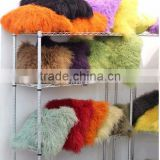 Unique Style Customized Dyed Different Beautiful Colors Sheep Fur Pillow Case Real Fur Tassel Cushion