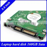 1 year warrany ,Stock new 2.5 inch hard disk drive laptop 160GB SATA 7200RMP 16MB 9.5mm brands optional