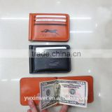 new style leather money clip wallets for man