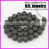 KJL-A0154 high quality Natural black Volcanic Lava gem round beads ,10mm charm stone beads for bracelet and necklace making