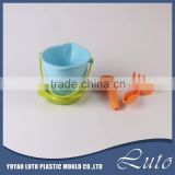 2016 plastic beach bucket set toy for summer