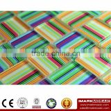 IMARK Bright Colorful Texture Glass Mosaic With Painting Glass Mosaic For Bathroom/kitchen Wall Backsplash