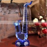 Elegant Crystal Glass Saxophone Model Musical Instrument for Home Decorations & Gifts CO-M006