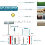 Factory price solar water pump system DC AC 0.82kw,1.14kw,1.64kw 2.21kw 15.12kw photovoltaic PV pumping system