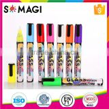 Bullet And Chisel Tip and Dry-Erase & Wet-Erase chalk marker with rich fluorescent Colors