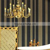 Black and gold wallpaper wide striped wall paper wallpaper in Italian
