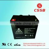12V55AH VRLA gel lead acid battery off-grid system