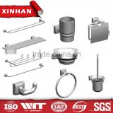 towel ring soap dish toilet brush holder zinc alloy bath accessory set