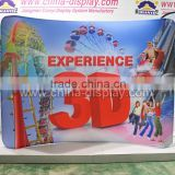Trade show booth tension fabric display backdrop advertising curve tension custom design display stand