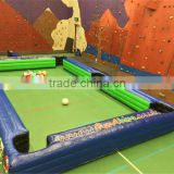 cheap and popular Inflatable billiards football games/Indoor football snooker field on ground/Large inflatable snooker field