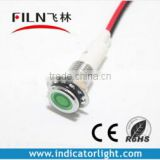 10mm metal high brightness red yellow green white blue12v miniature led car indicator light