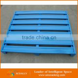 Customized buy used pallets euro pallet dimensions industrial storage shelves blue pallets standard dimensions steel