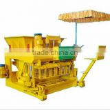 JQM-6A mobile hollow blocks maker / mobile cement solid bricks maker / egg laying blocks making equipments production line