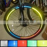 Motorcycle MTB Bike Bicycle DIY Wheel Rim Reflective Tape -RGB, Wheel Lights for Riding Safety at Night
