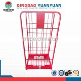 Hot sale 2 sided logistics pallet container warehouse storage cages logistic roll wire mesh cage four wheel trolley