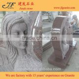 china granite monuments Carved Angel Upright Headstone Cemetery Headstone