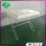 2017 New Style Acrylic Dressing Room Stool Modern Lucite Shop Mall Leisure Stool Living Room Ottomans