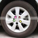 Car Styling Rim Silicone Wheel Hub Screw lug Nut Decoration Cap Tyre valve cover