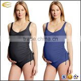 Ecoach Soft sewn in cups Soft sewn in cups Roll waist bottoms Adjustable Straps Women's Maternity Solid Twist Tankini swimwear