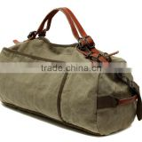 Unisex Vintage Casual Cotton Canvas Leather Haversack Shoulder Bag Travel Bag Weekend Bag Duffle Bag Travel Overnight Bag,For M