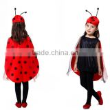 BS060301New Style Halloween cosplay costume lady ladybug play suit seven star ladybug costumes