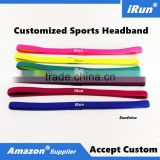 New Activities Slim Headband Non-Slip Grip Hairband Elastic Pullover Single Band Silicone Lined Sweatband for Golf Yoga Running