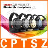 New design stereo foldable bluetooth headphone connect with phone,tablet,PC ,music player,ect.Built-in microphone