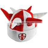 England Supporters Football Worldcup 2018 Viking Three Lions (3 Lion) Hat with St George Flag