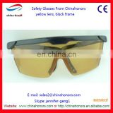 plastic glasses/glasses yellow lens/safety eyeglass