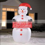 Merry christmas inflatable snowman decorations