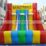 Inflatable triple Basketball Shoot Hoop / inflatable Basketball Hoop Game