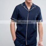 Alibaba china suppliers pyjama sets men's clothing with piped edges men's pajamas