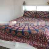 Indian Mandala Duvet / Doona Cover Ethnic Quilt Covers Throw Hand Screen Printed With Pillow Covers