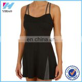 Yihao 2015 summer new fashion women sexy tennis dress with inner bra custom activewear wear dress