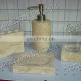 cream marble square natural stone soap dish