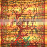 TREE OF LIFE ON MADRAS STRIPE