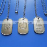 2017 cute custom silver logo engraved dog tag