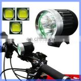 Multifunction Bike Light 3 LED CREE Bicycle Headlight