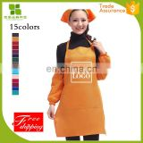 Good price of wholesale black spun poly aprons made in China