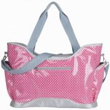 waterproof pvc fabric diaper bag with long shoulder and tote handle