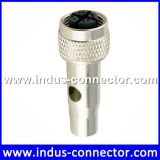 Industrial water-tight m12 female 8 pin x code sma electrical moulded connector