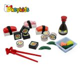 New arrival simulation mini wooden sushi toys for kids pretend play W10B273
