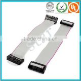 2 Pcs 2.54 mm Pitch 20 Pin Way Both Side With Female IDC Grey Flat Ribbon Cable