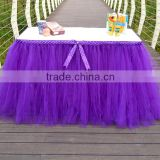 Handmade Table Tutu Skirt Party Tulle Tableware for Wedding Birthday Party Decoration SD103