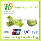 Plant asparagus root extract with Asparagosides in powder
