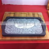 100% food standard Granite stone baking tray for oven